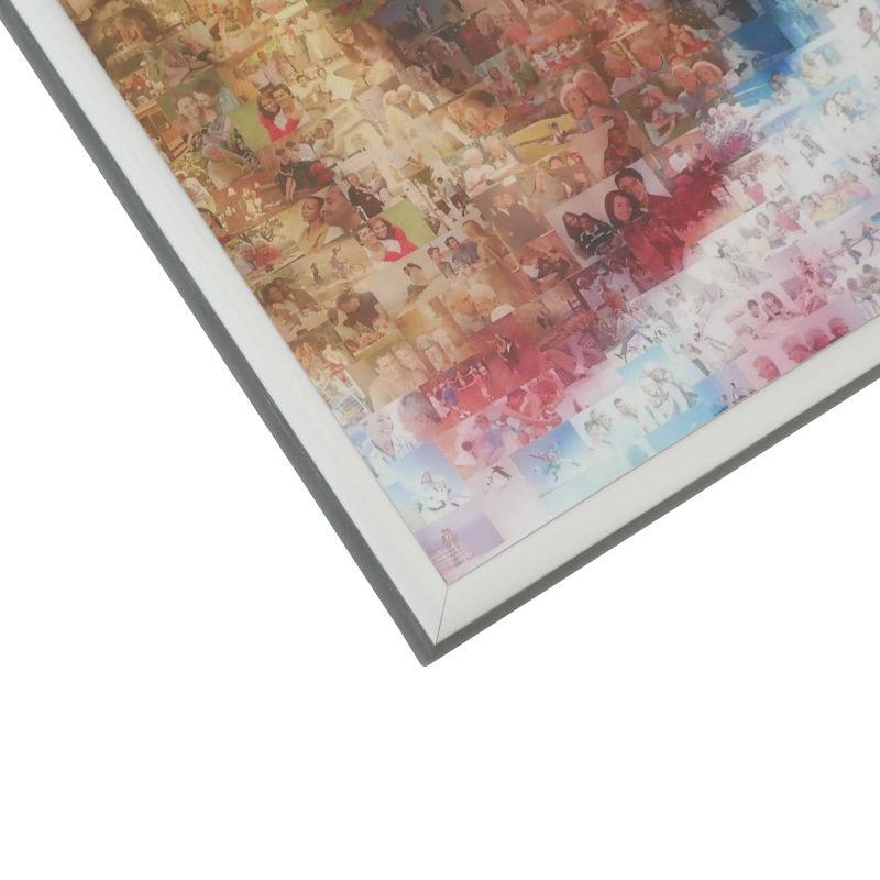 Mosaik AluRahmen matt