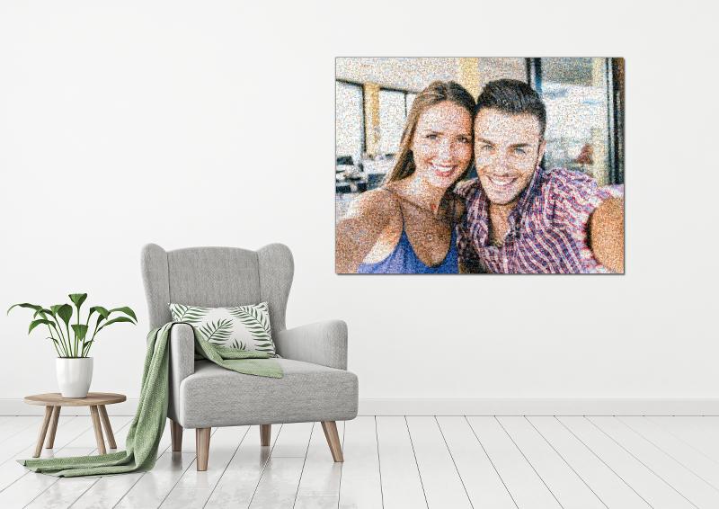 Fotomosaik Wohnzimmer