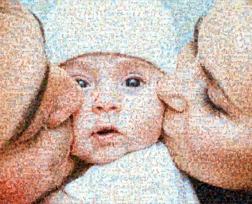 Normales Fotomosaik mit Eltern
