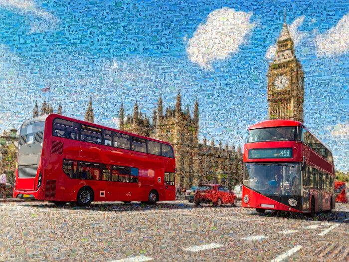 Teilmosaik BigBen London