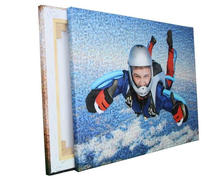 teilmosaik-fallschirmspringer