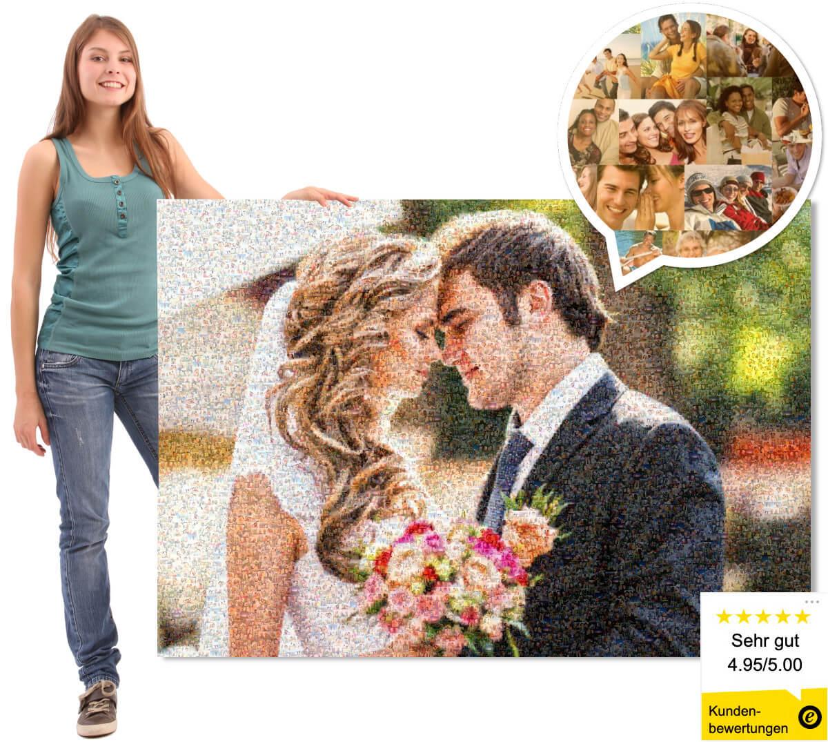 Fotomosaik Hochzeit mobile