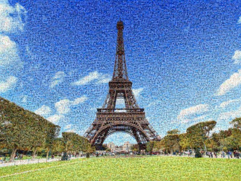 Fotomosaik in Paris
