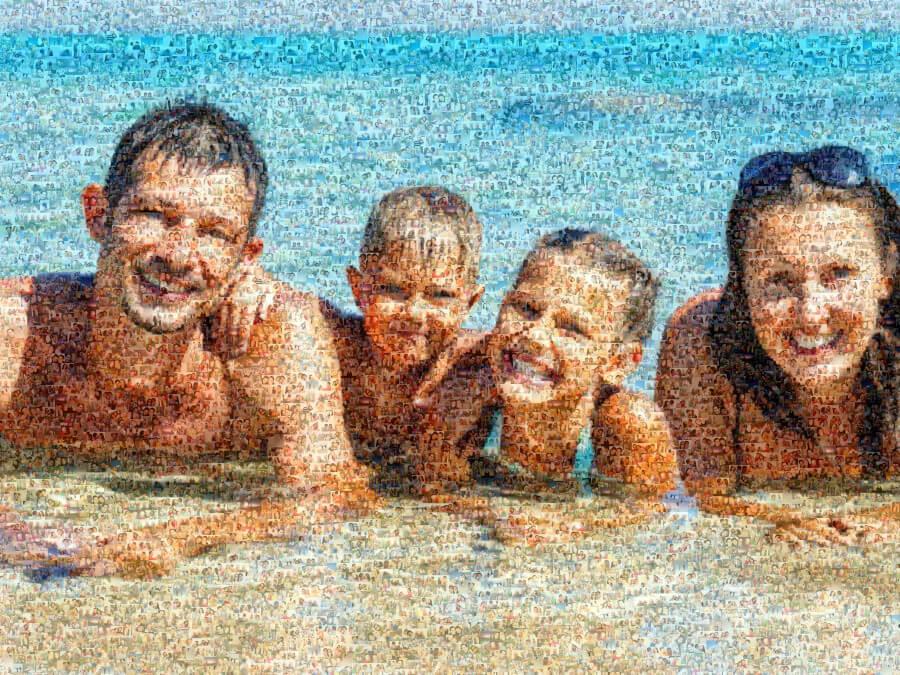 Mosaik Bild Familie
