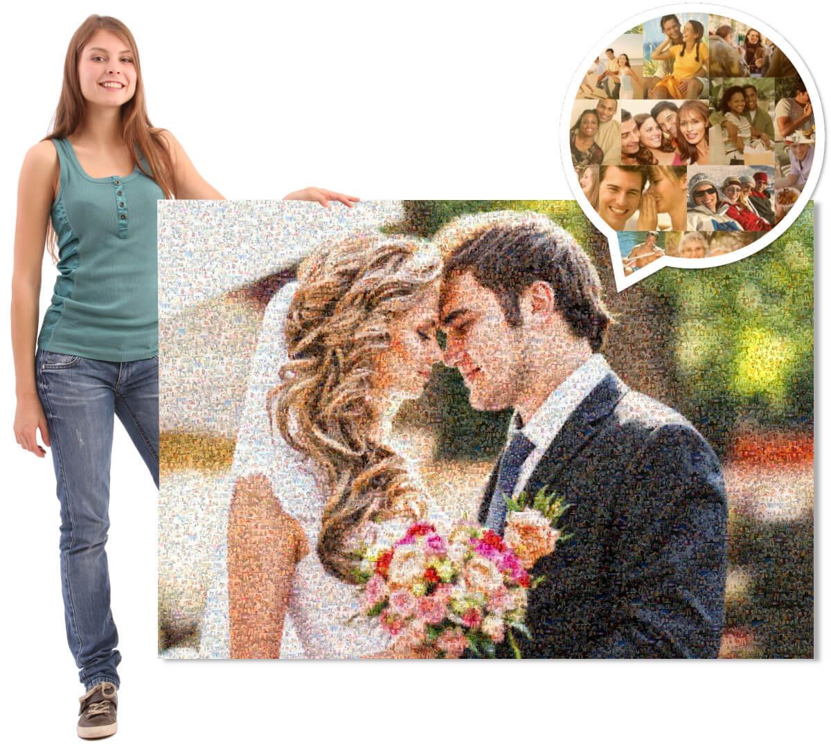 Mosaikbild Hochzeit Detail
