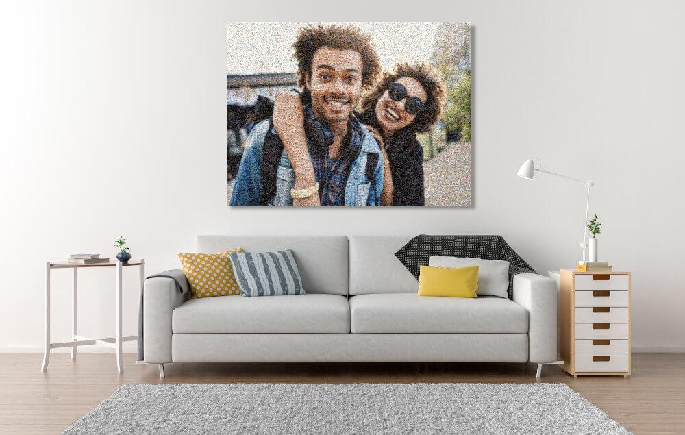 Mosaikbilder im Zimmer