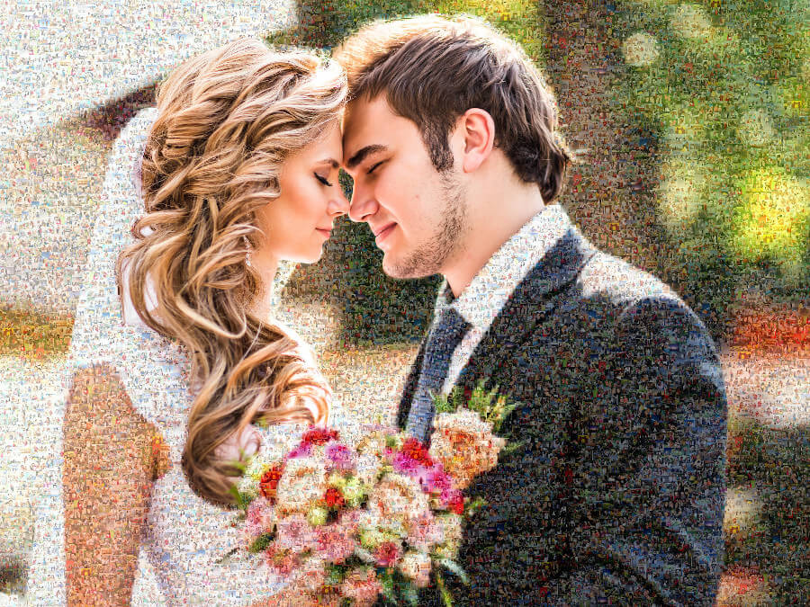 Teilmosaik Brautpaar